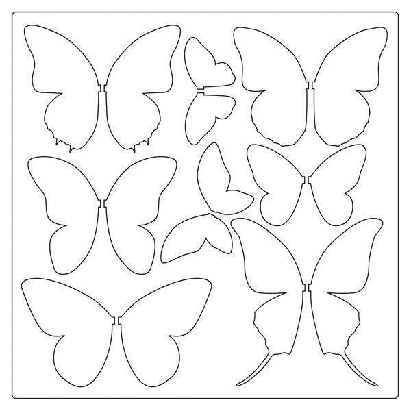 Best Butterfly Templates Images On   Butterfly