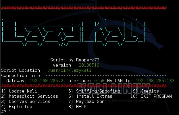Hi all today i am going tell you about bash script that helps you in kali linux to handle many software updation in simple manner.  Lazy kal...