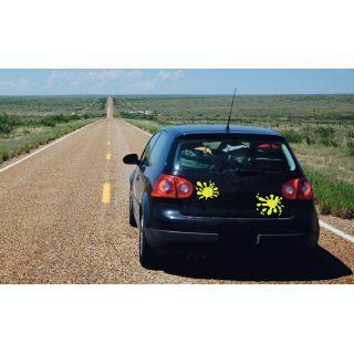 наклейки на авто от 2stick.ru Виниловая наклейки Желтые кляксы
