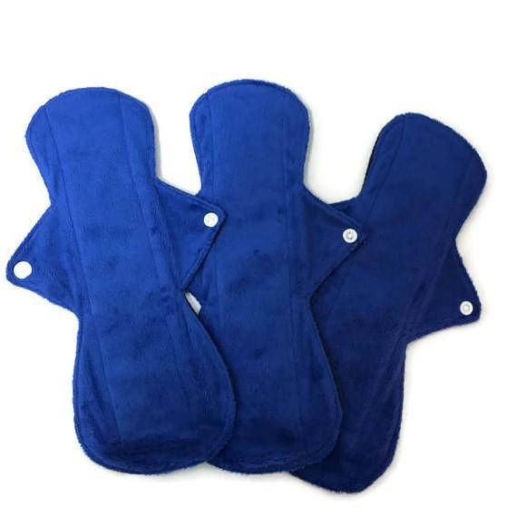 SALE Set of 3 pads 11Long Minky Menstrual Sanitary