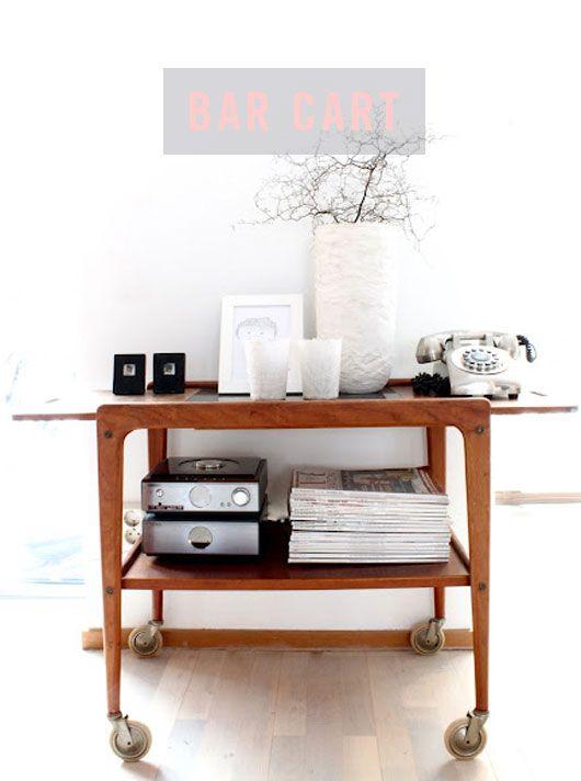 Mid Century Modern Bar Cart Furniture Design Studio W14