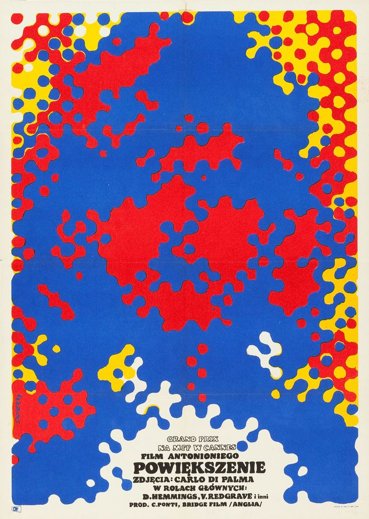 "phdonohue: ""Polish Poster for Blow Up (Michelangelo Antonioni, 1966) """