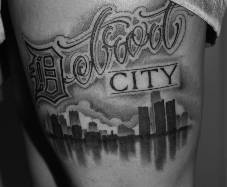 my upper thigh tattoo - detroit city