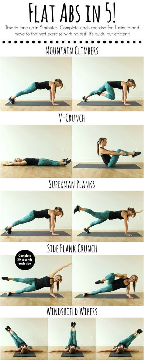 Tone up in 5 minutes with this quick and efficient ab workout! - Flat Abs in 5!   www.coovysports.com   #CoovySports.