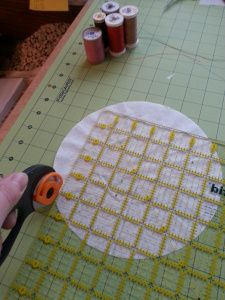 How to use coffee filters as a stabilizer for sewing applique or quilting.