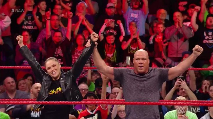 Tonight during the Monday Night Raw broadcast, the general manager of the Raw Kurt Angle announced that Ronda Rousey and he will face Stephanie McMahon and Triple H at WrestleMania 34, following the challenge was thrown by the former UFC bantamweight champion to the commissioner of Raw.   ##WWE #Kurtangle #Raw #RoundRousey #StephanieMcMAhon #TripleH #Wrestlemania #WrestlingNews