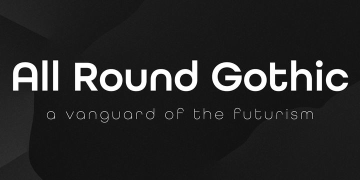 All Round Gothic - Webfont & Desktop font « MyFonts (want ... need moneys)