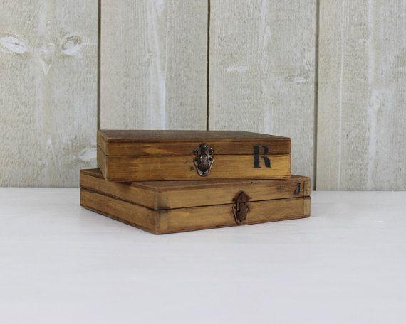Vintage Holzbox. Green-Filzbelag.  Jahrgang-Box. Rustikale Holz-Lagerung. Für 2. Industrielle Feld / / D100