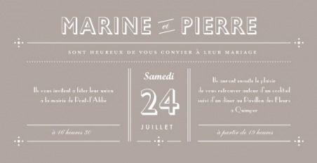 faire-part mariage rétro - by Marion Bizet pour www.fairepart.fr - #wedding #retro #card #fairepart #mariage