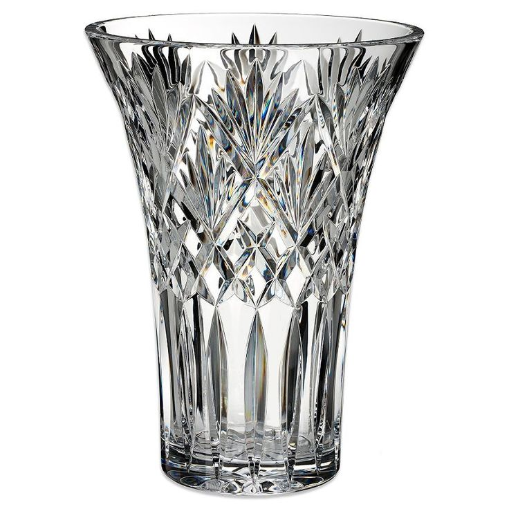 Waterford Crystal Cassidy Wedge Cut 10 Vase New