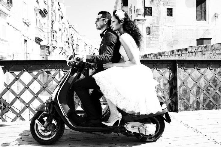 Rustic wedding photo  with beautiful Valletta in the background #Malta #wedding #honeymoon #Valletta #Malta #hotel #travel #weddingplaning #weddingtips #weddingsinmalta