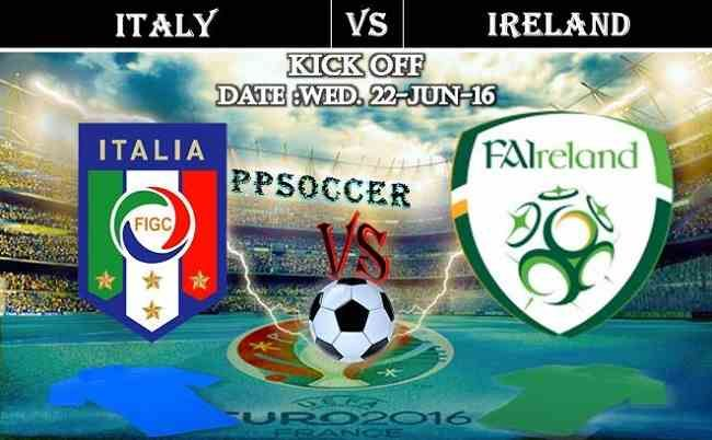 Italy vs Ireland 22.06.2016 Free Soccer Predictions, head to head, preview, predictions score, predictions under/over EURO Cup 2016 Group Stages