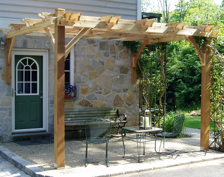 Features:  -Hardware included (screws, nails and lag bolts).  -Post mounts not included in the kit.  -Pergola and attached.  -No cutting required.  -Centuries of proven performance.  -Environmentally