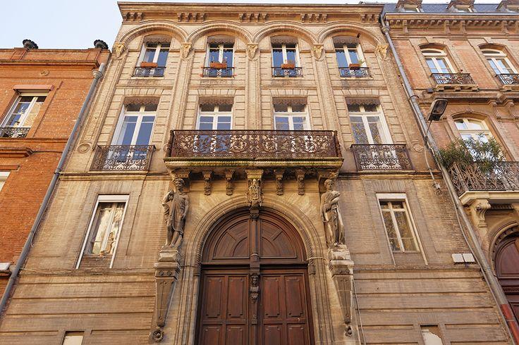 Hôtel Bernet, 22 rue Sainte Anne #toulouse © P. Nin - Ville de Toulouse #visiteztoulouse
