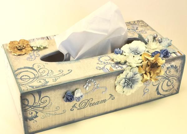 "Layout: Scraps of Elegance ""Altered Tissue Box"""