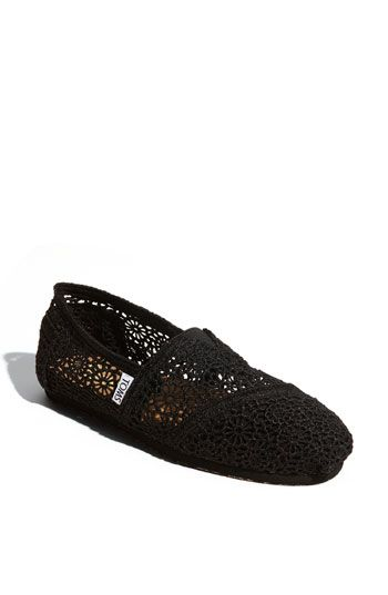 TOMS 'Classic Crochet' Slip-On (Women) available at Nordstrom  I WANT THESE!!!!!Black Lace, Lace Tom, Crochet Tom, Classic Crochet, Black Tom, Tom Shoes, Tom Classic, Slip On Women, Crochet Slip On