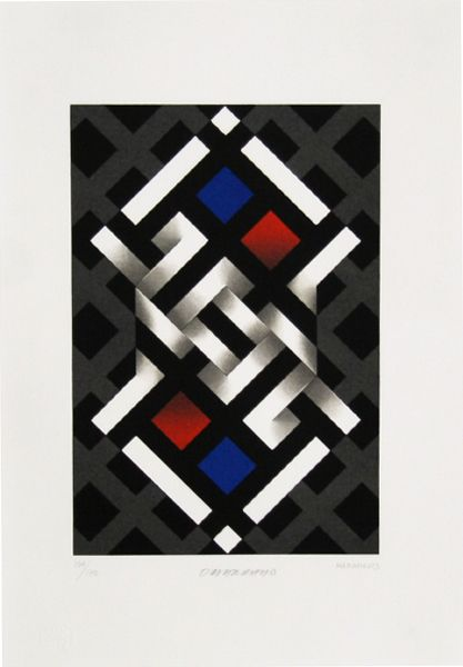 Omar Rayo Print - Hamamelis
