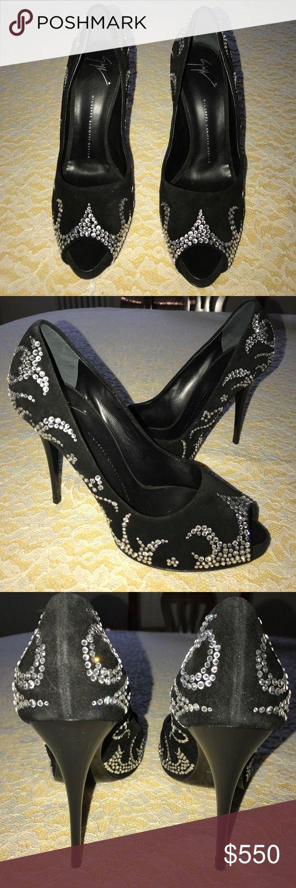 Giuseppe Zanotti Design Rhinestone Heel Stunning rhinestone heels NEVER WORN Giuseppe Zanotti Shoes Heels