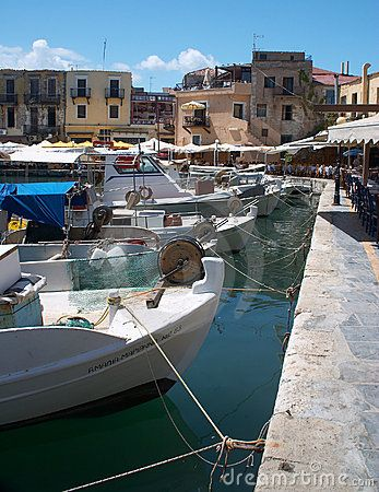 The old harbour at Rethymno, Crete. #Greece