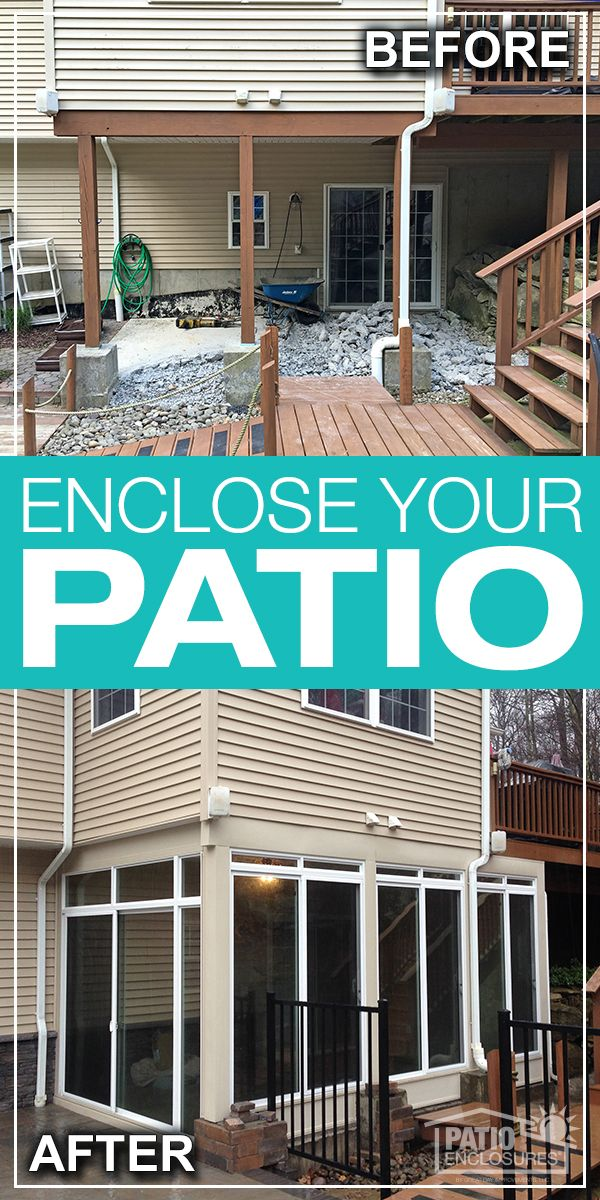 Enclose The Space Under Your Deck And Create A Brand New Space For Your Home Sunroom Addition Patio Repair Sunroom