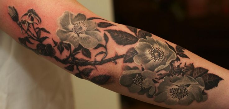 Black Flower Tattoos