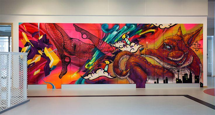 Det stormar runt graffitin i Halmstad   Konst i Halmstad