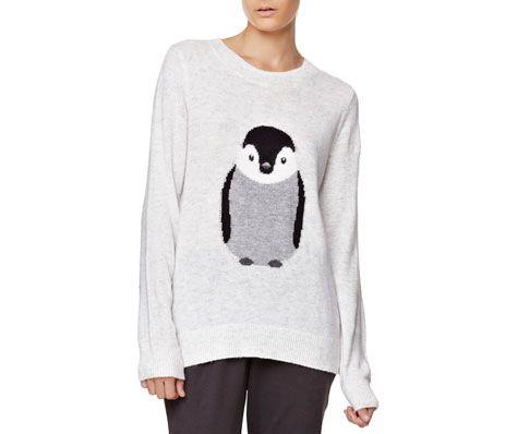 Pullover mit Pinguinmotiv - OYSHO