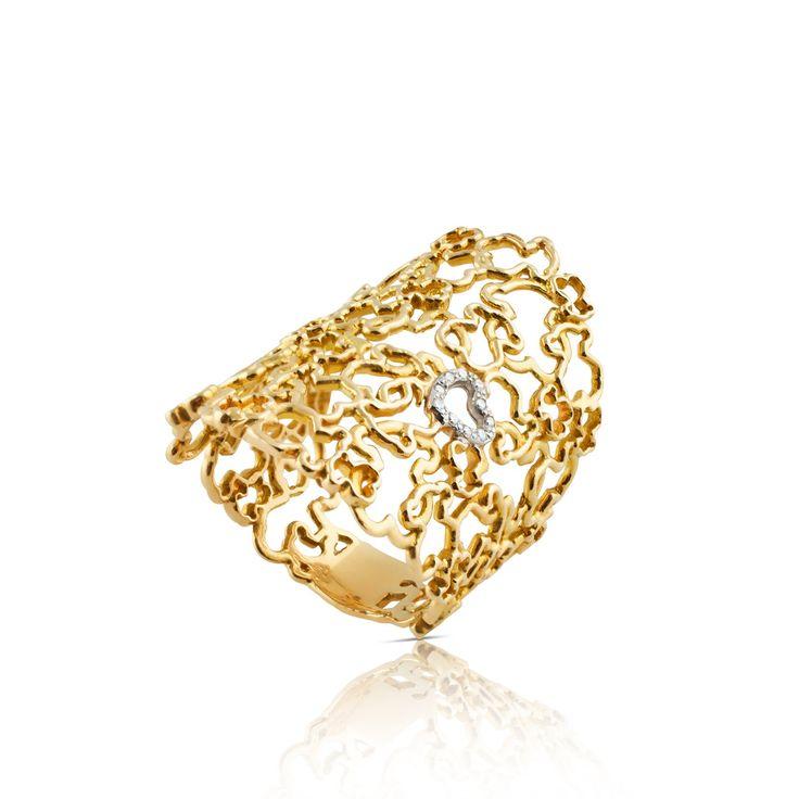 18kt yellow gold TOUS Milosos ring