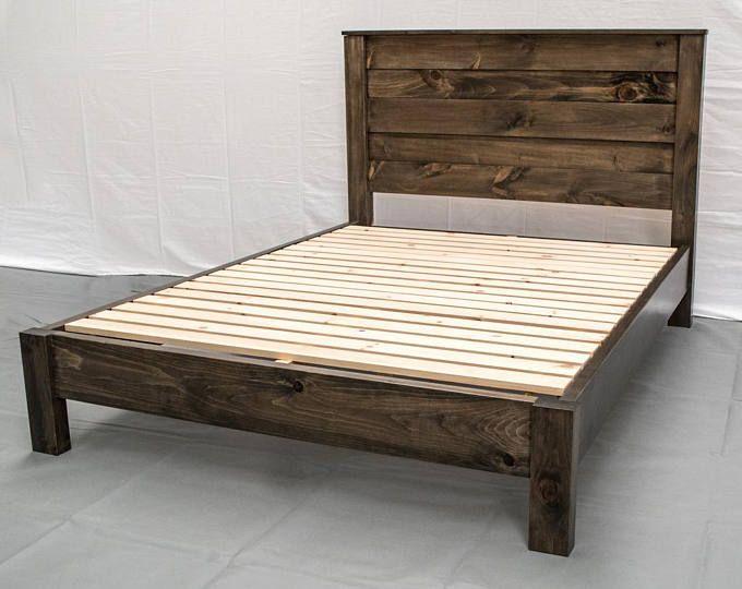 Unfinished Farmhouse Platform Bed W Headboard Traditional Platform