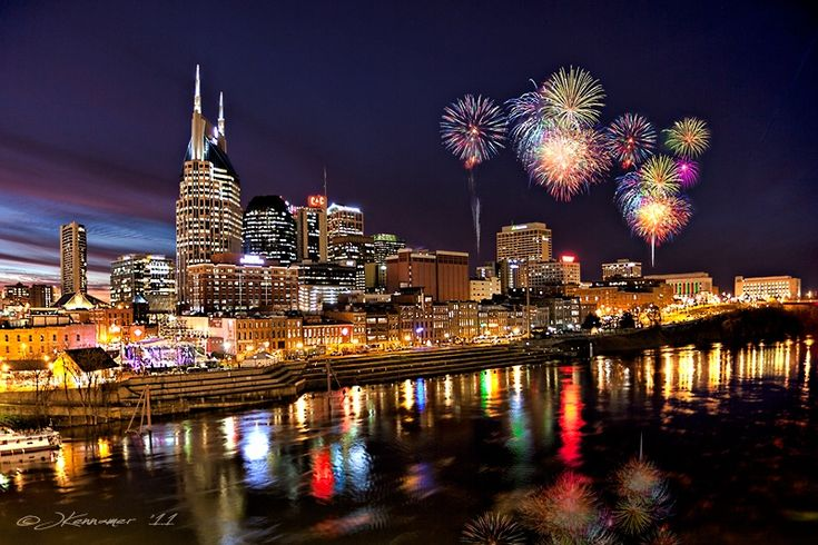 Nashville Celebration - my recent photo taken at twilight in beautiful Tennessee -