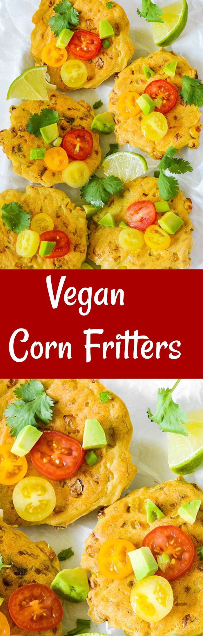 Vegan Corn Fritters, so delicious, crisp on the outside and loaded corn kernels.