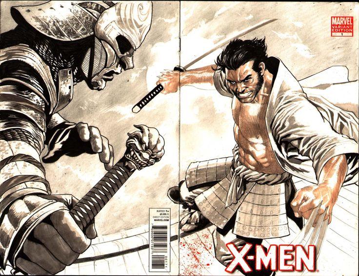 Wolverine vs Silver Samurai by Lan Medina