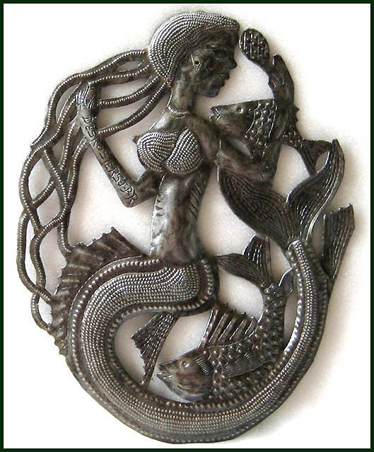 HAITI METAL ART ...  February Sale – 10% discount View our huge selection of hand cut, recycled steel drum metal art. Click to view all ....  https://www.etsy.com/shop/HaitiMetalArt  Metal Wall Art, Metal Art Wall Hanging, Haitian Art, Steel Oil Drum, Metal Wall Decor, Mermaid Metal Wall Hanging, Metal Art of Haiti - 567 by HaitiMetalArt on Etsy