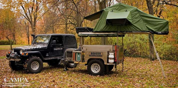 campa jeep Car Camping with an ARB Rooftop Tent