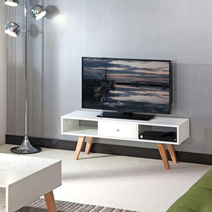17 meilleures id es propos de meuble tv blanc sur for Meuble tv shine
