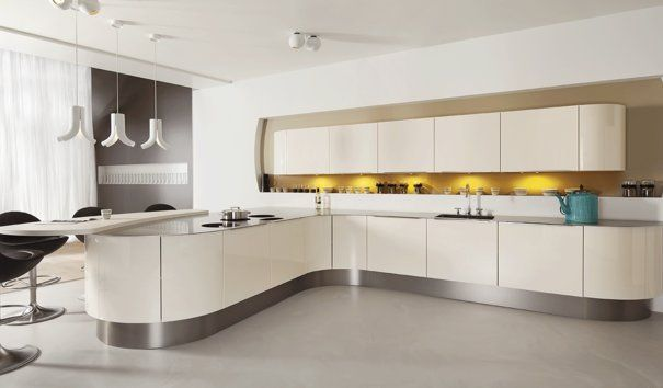 Mooie futuristische keuken van barletti klik hier om de gehele collectie van barletti te - Outs studio keuken ...