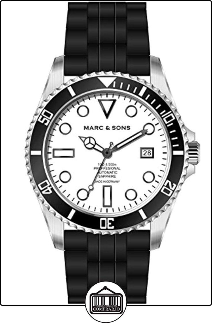 Marc & Sons Professional Reloj de Buceo automático, Diver Watch-MSD de 044de WS de  ✿ Relojes para hombre - (Gama media/alta) ✿