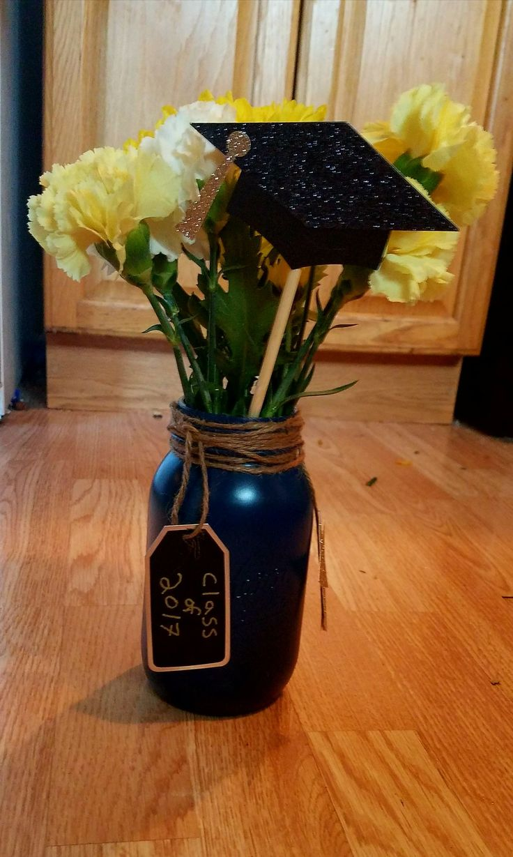Center pieces for Hayley's graduation party | HS Grad ...