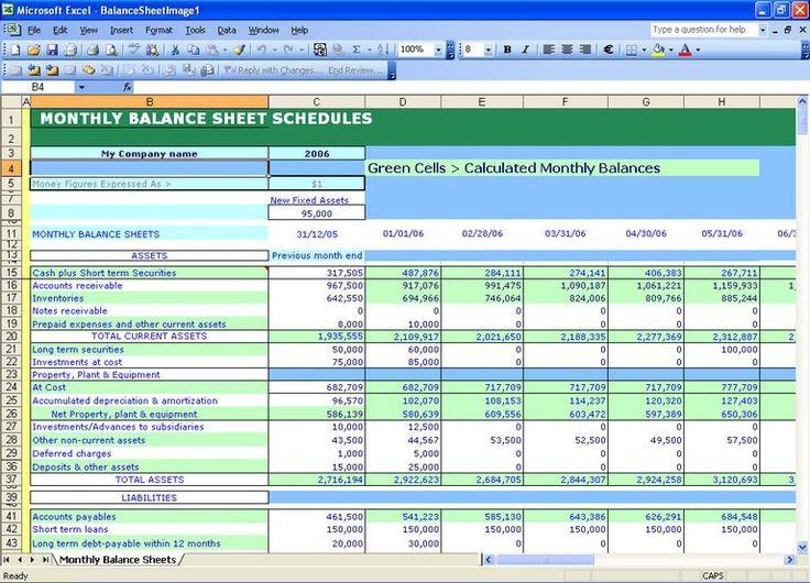Balance Sheet Financial Statements