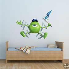 Great Disney Monsters Inc Wall Stickers Design Ideas