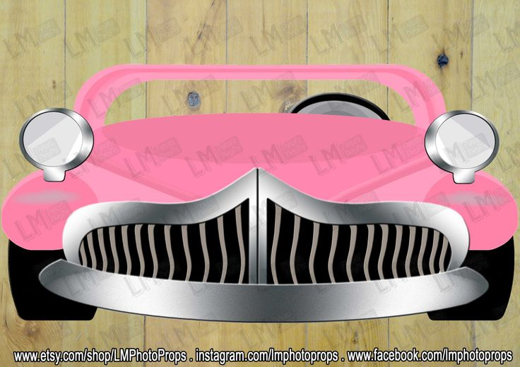 Pink GREASE inspired EXtra Large Car Photo Booth Prop, Grease Movie Prop, Pink Grease Car, Pink Grease Party, DIY Instant Download PRINTABLE by LMPhotoProps on Etsy