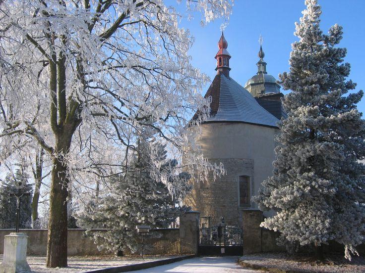 Church in Pravonín, Benešov district, Czechia