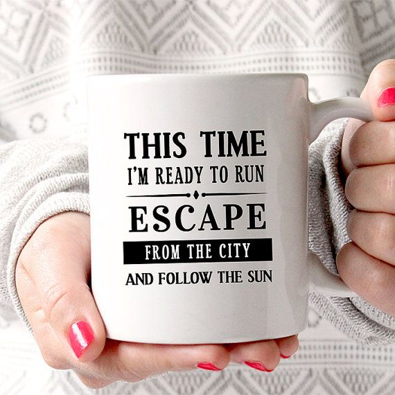 Coffee Mug Ready To Run Mug  - One Direction - Lyrics Coffee Mug