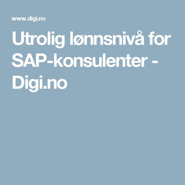 Utrolig lønnsnivå for SAP-konsulenter - Digi.no