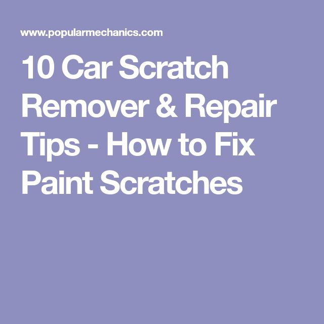 how to fix scratch on car paintwork