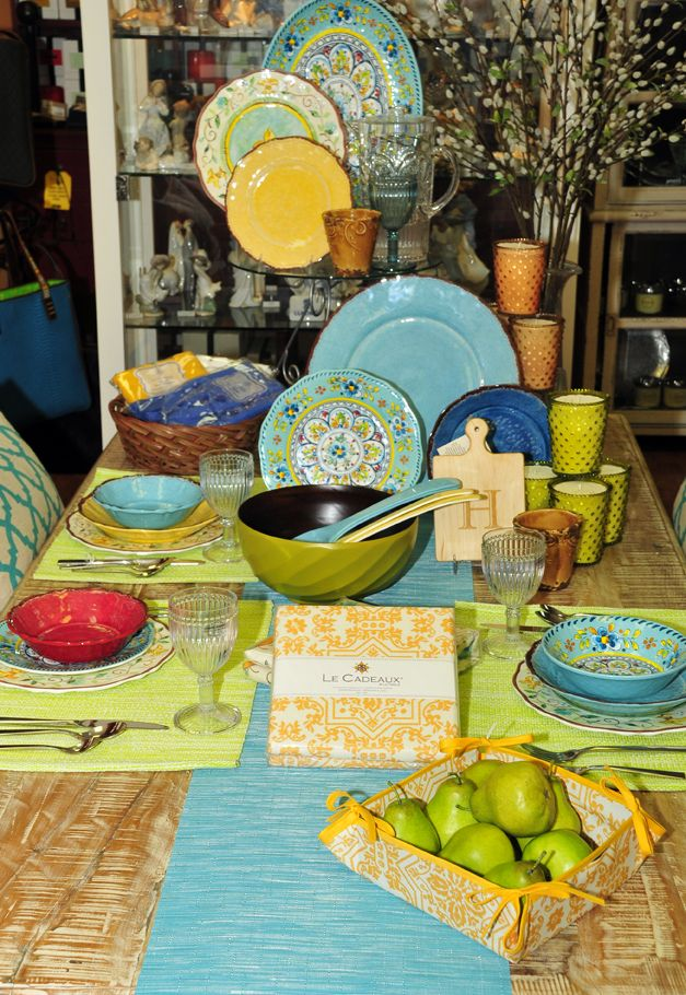Formidable Le Cadeaux Melamine Collections #6: Our Collection Of Le Cadeaux Melamine Dinnerware At Distinctive Decor Is A  Favorite For Outdoor Entertaining.