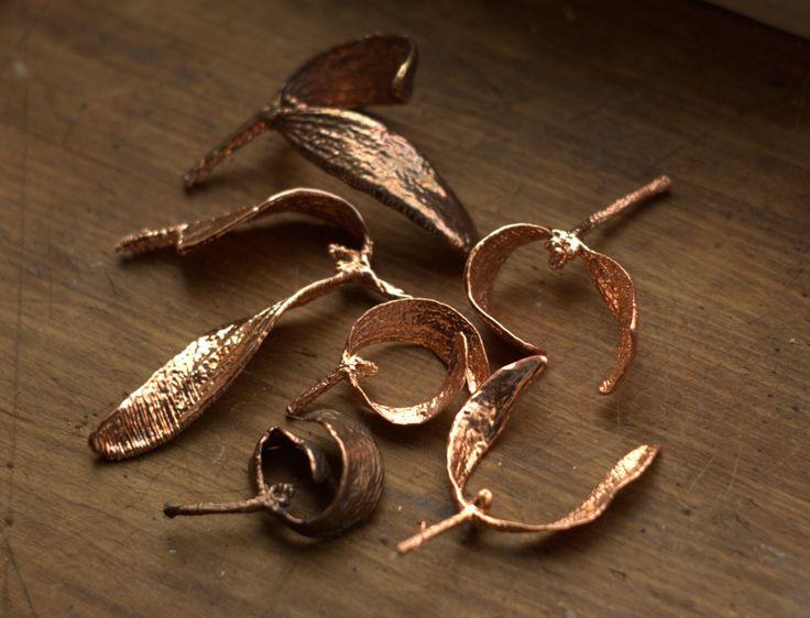 Mistletoe leaf pendant, electroformed with copper, real mistletoe, metal dipped, Christmas pendant, winter gift,botanical jewelry by Galvanart on Etsy https://www.etsy.com/listing/207761090/mistletoe-leaf-pendant-electroformed