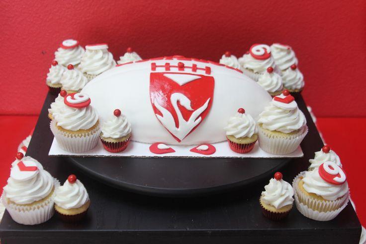 Sydney Swans Football Birthday Cake