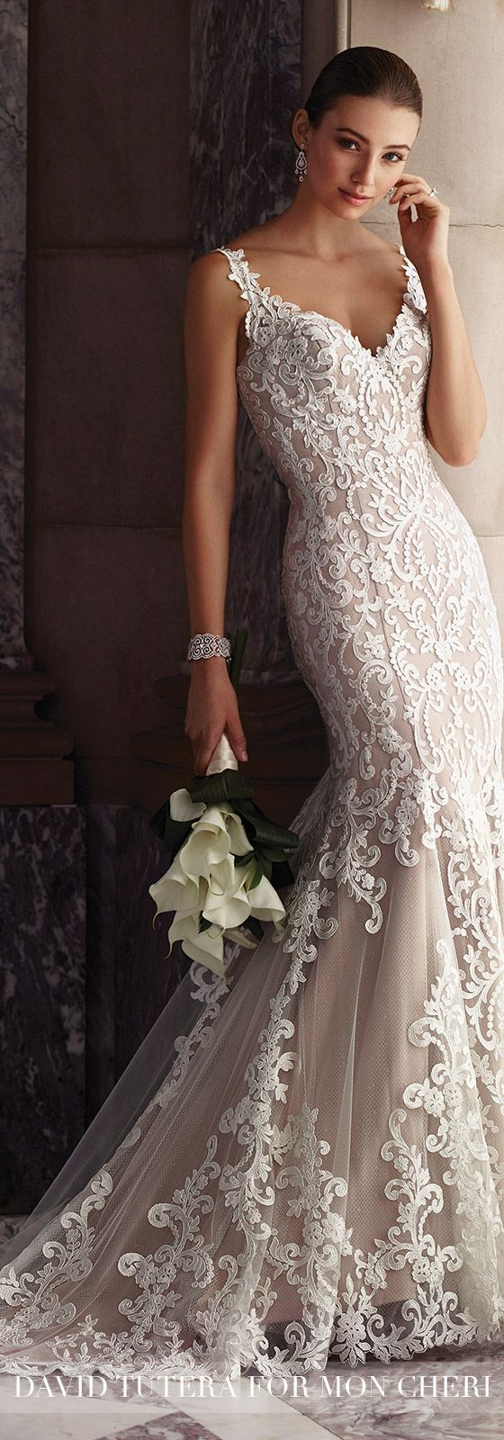 Fancy Sleeveless Fit u Flare Lace Wedding Dress Amber