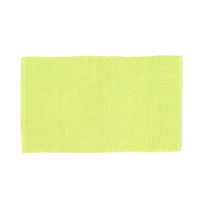Prem's Tapis chenille en coton vert 50x80cm